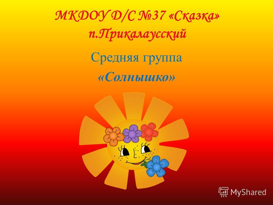 МКДОУ Д/С 37 «Сказка» п.Прикалаусский Средняя группа «Солнышко»