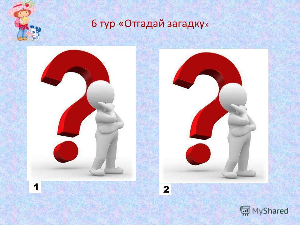 6 тур «Отгадай загадку »