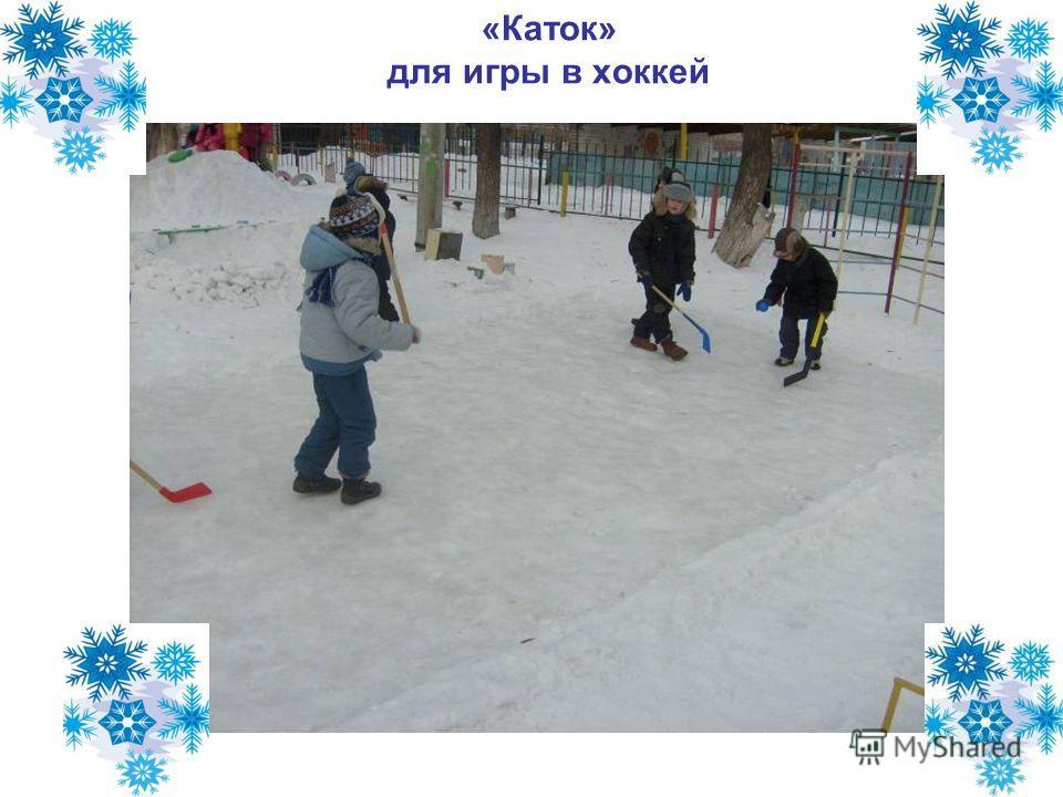 «Каток» для игры в хоккей