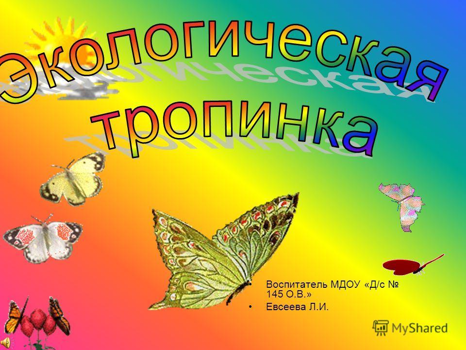 Воспитатель МДОУ «Д/с 145 О.В.» Евсеева Л.И.