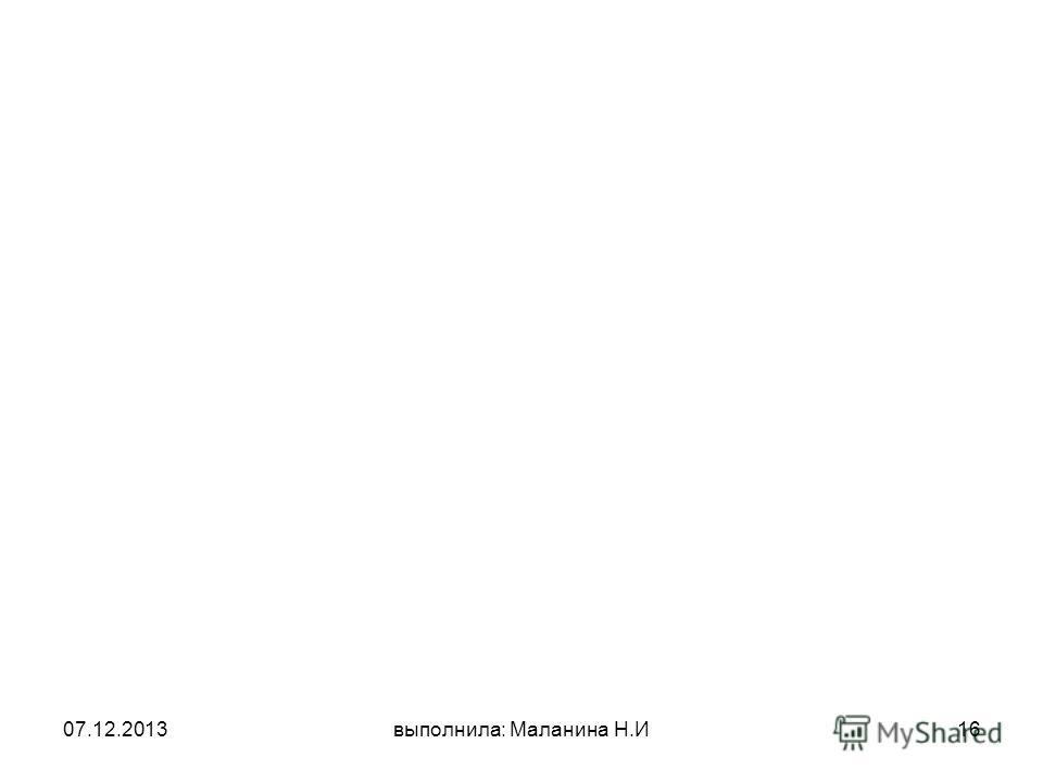 07.12.2013выполнила: Маланина Н.И16
