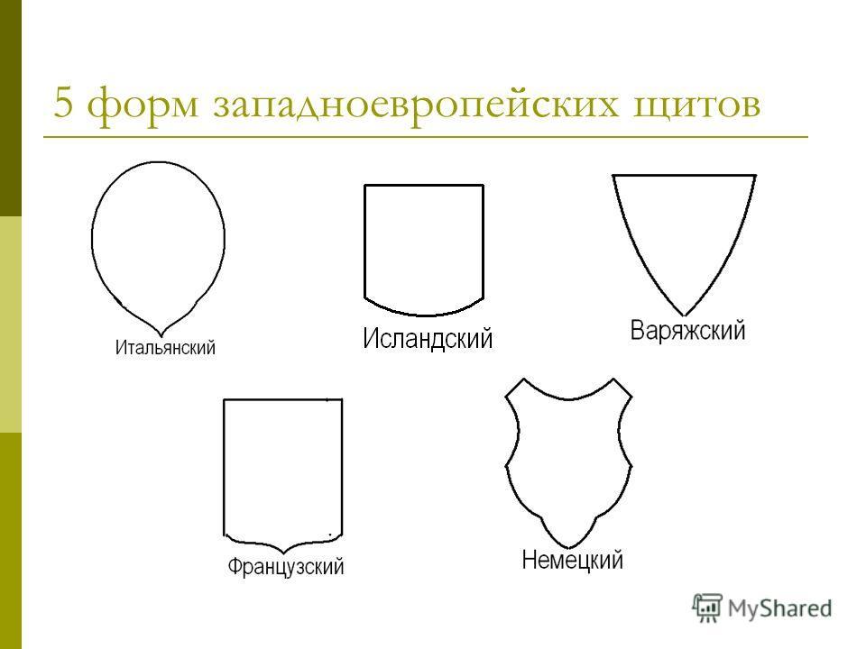 5 форм западноевропейских щитов