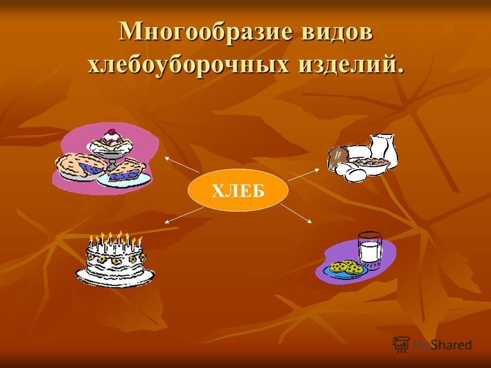Многообразие видов хлебоуборочных изделий. ХЛЕБ