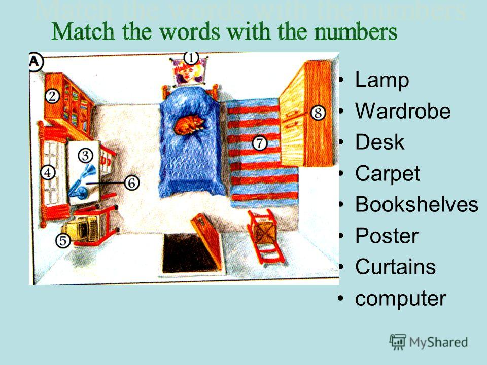 Lamp Wardrobe Desk Carpet Bookshelves Poster Curtains computer Poster Bookshelves Desk Curtains computer Lamp Carpet Wardrobe