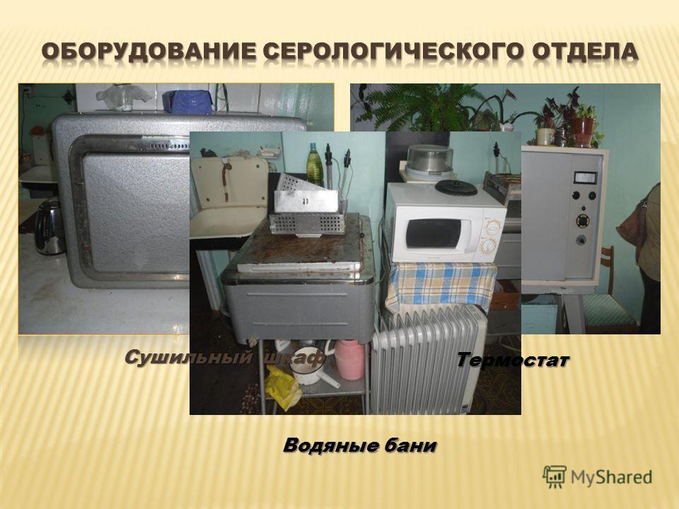 Водяные бани Сушильный шкаф Термостат