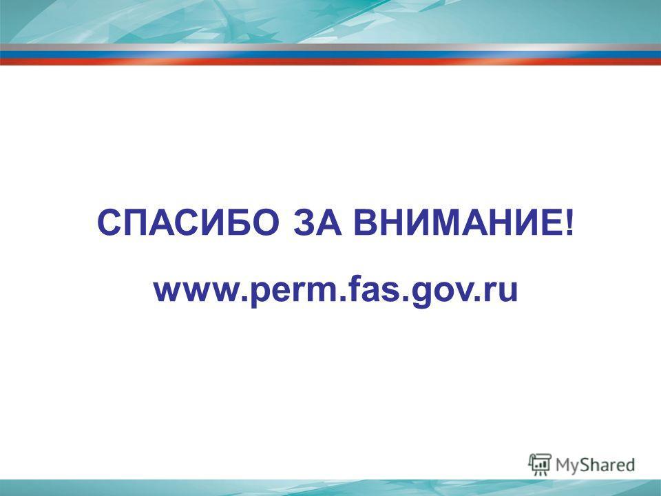 СПАСИБО ЗА ВНИМАНИЕ! www.perm.fas.gov.ru