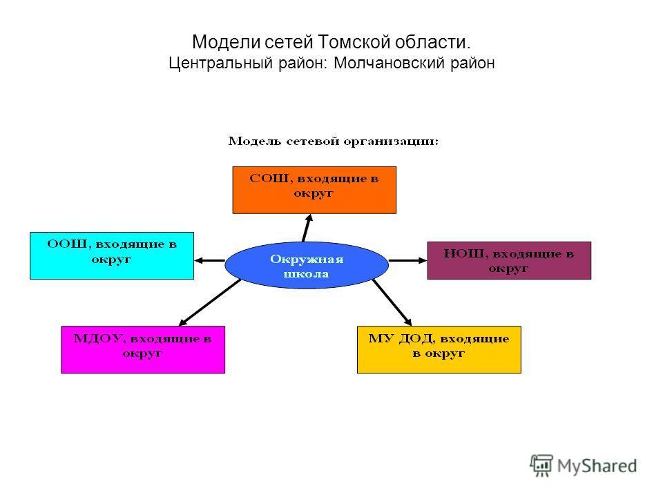Модели сетей Томской области. Центральный район: Молчановский район