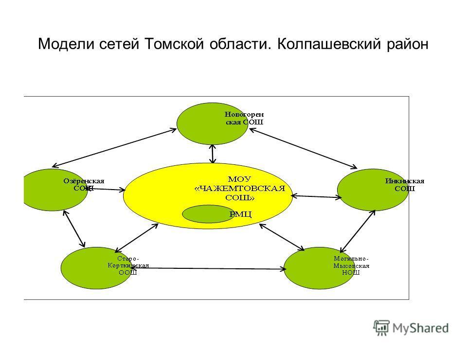 Модели сетей Томской области. Колпашевский район