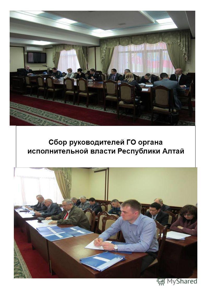 Сбор руководителей ГО органа исполнительной власти Республики Алтай