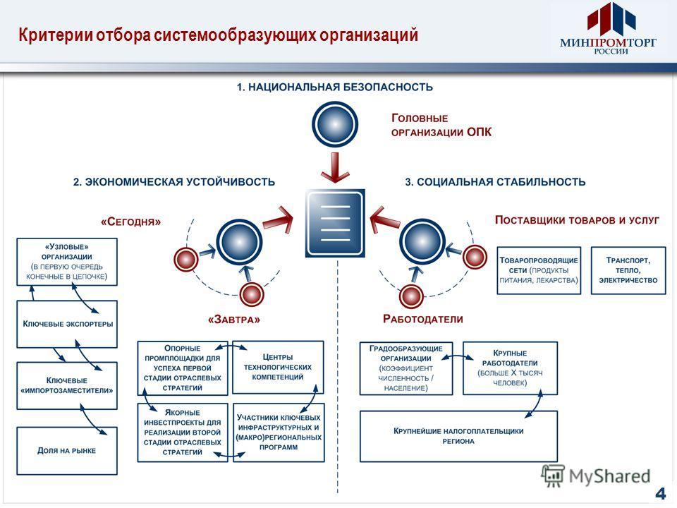 Критерии отбора системообразующих организаций 4