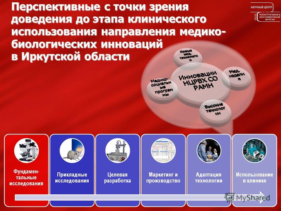 Перспективные с точки зрения доведения до этапа клинического использования направления медико- биологических инноваций в Иркутской области