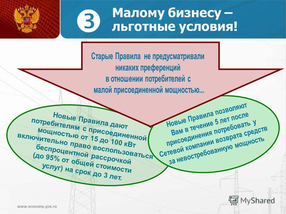 www.economy.gov.ru Малому бизнесу – льготные условия!