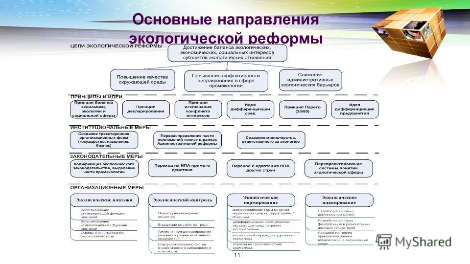 Основные направления экологической реформы 11