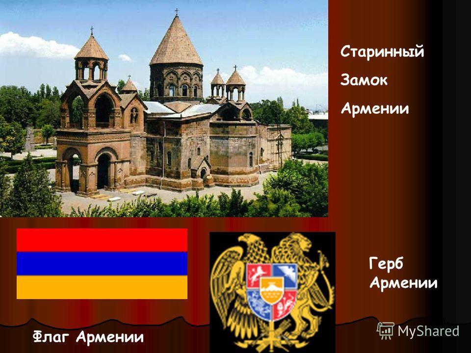 Старинный Замок Армении Флаг Армении Герб Армении
