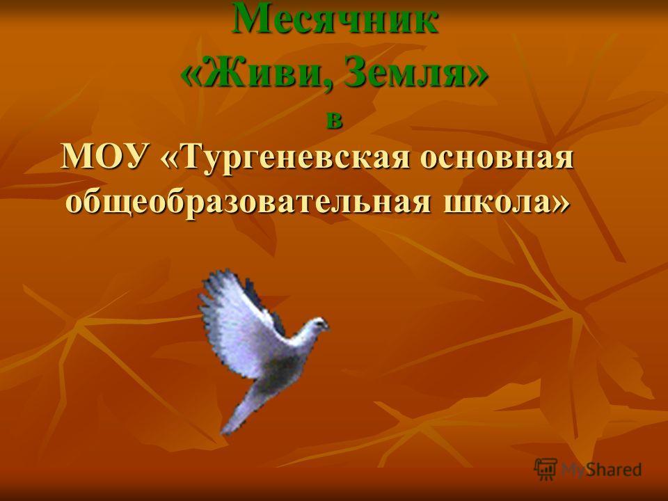 Месячник «Живи, Земля» в МОУ «Тургеневская основная общеобразовательная школа»