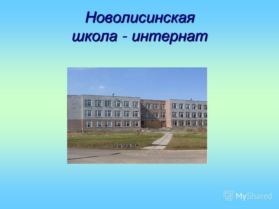 Новолисинская школаинтернат Новолисинская школа - интернат