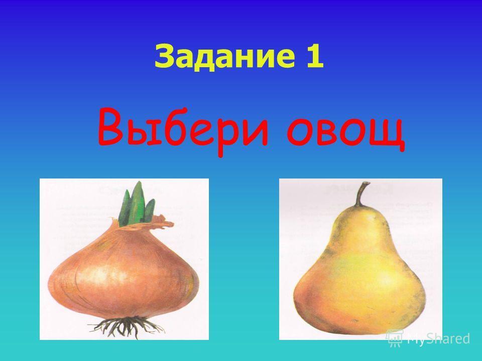 Задание 1 Выбери овощ