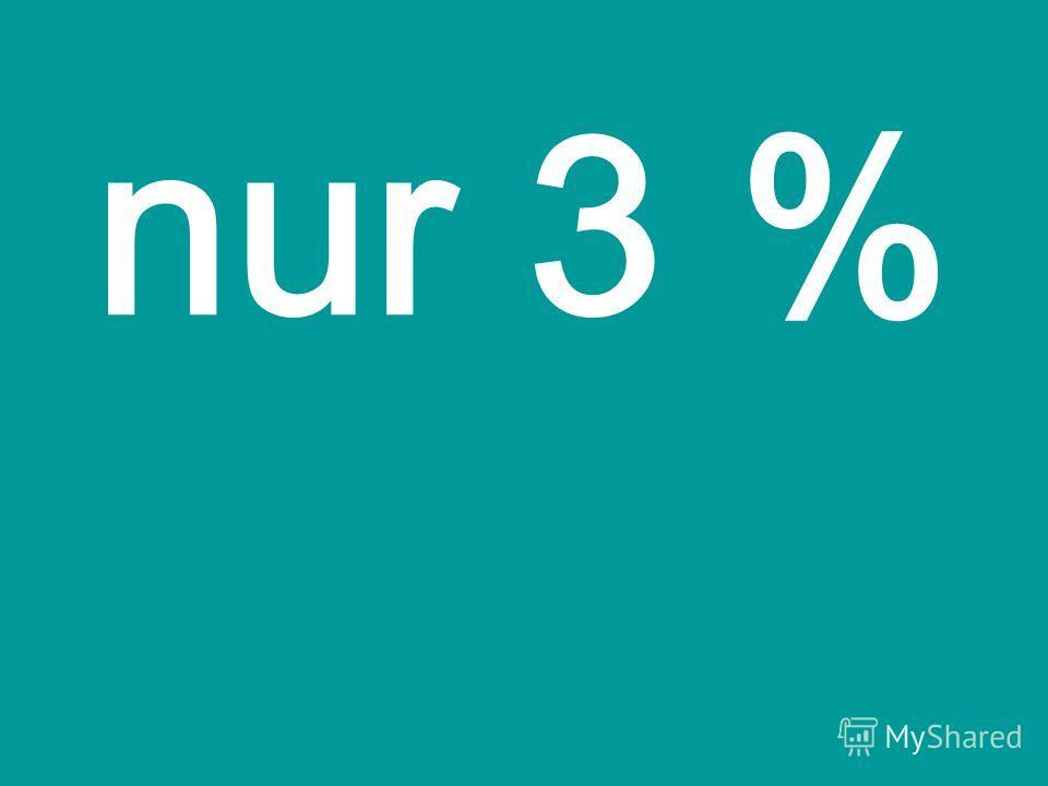 nur 3 %