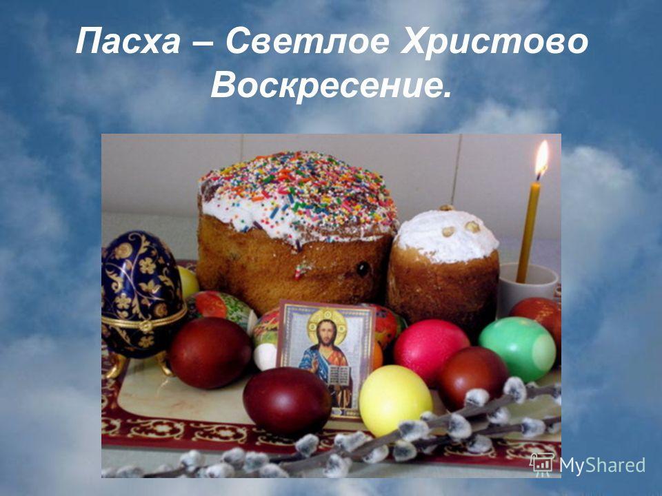 Пасха – Светлое Христово Воскресение.