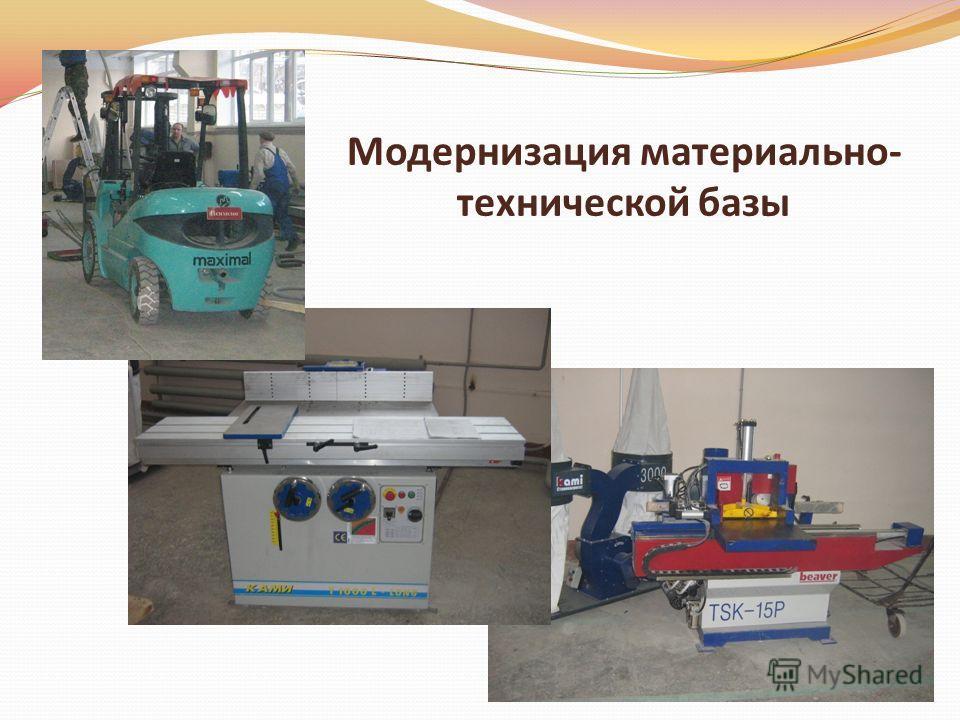 Модернизация материально- технической базы