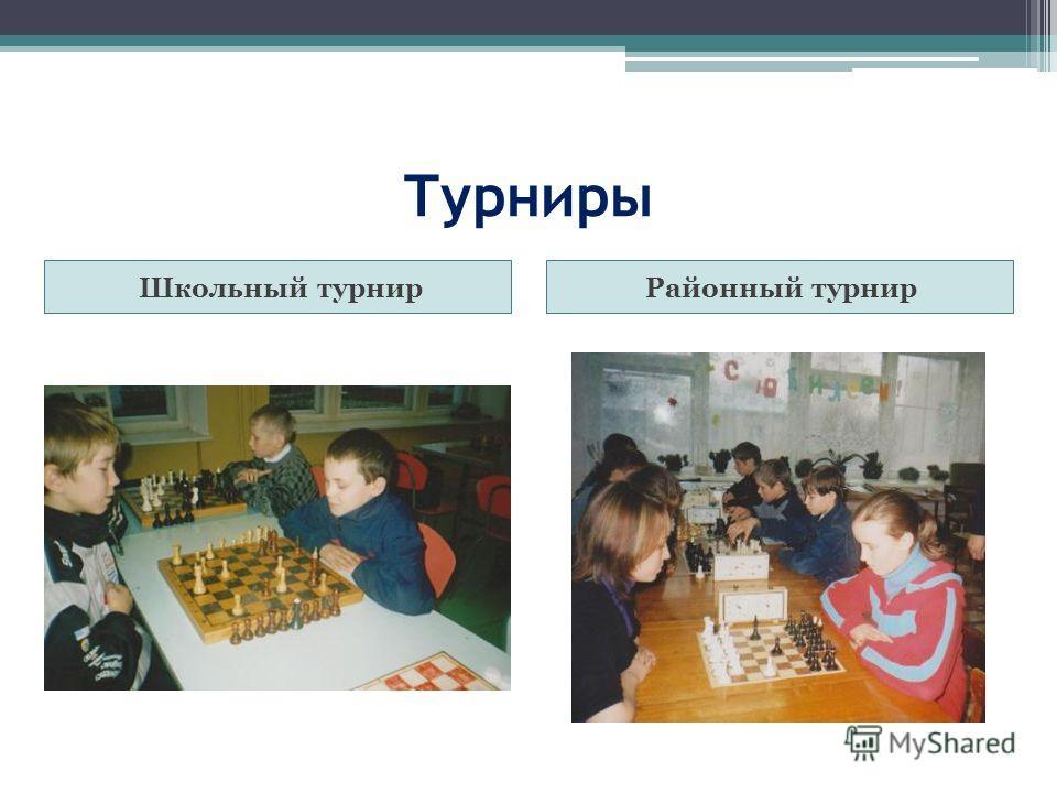 Турниры Школьный турнирРайонный турнир