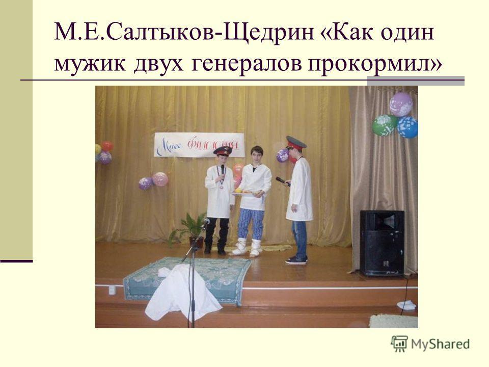 М.Е.Салтыков-Щедрин «Как один мужик двух генералов прокормил»