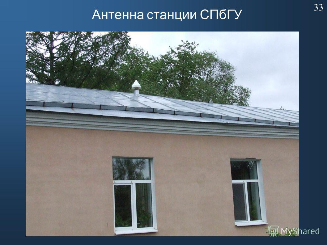 Антенна станции СПбГУ 33