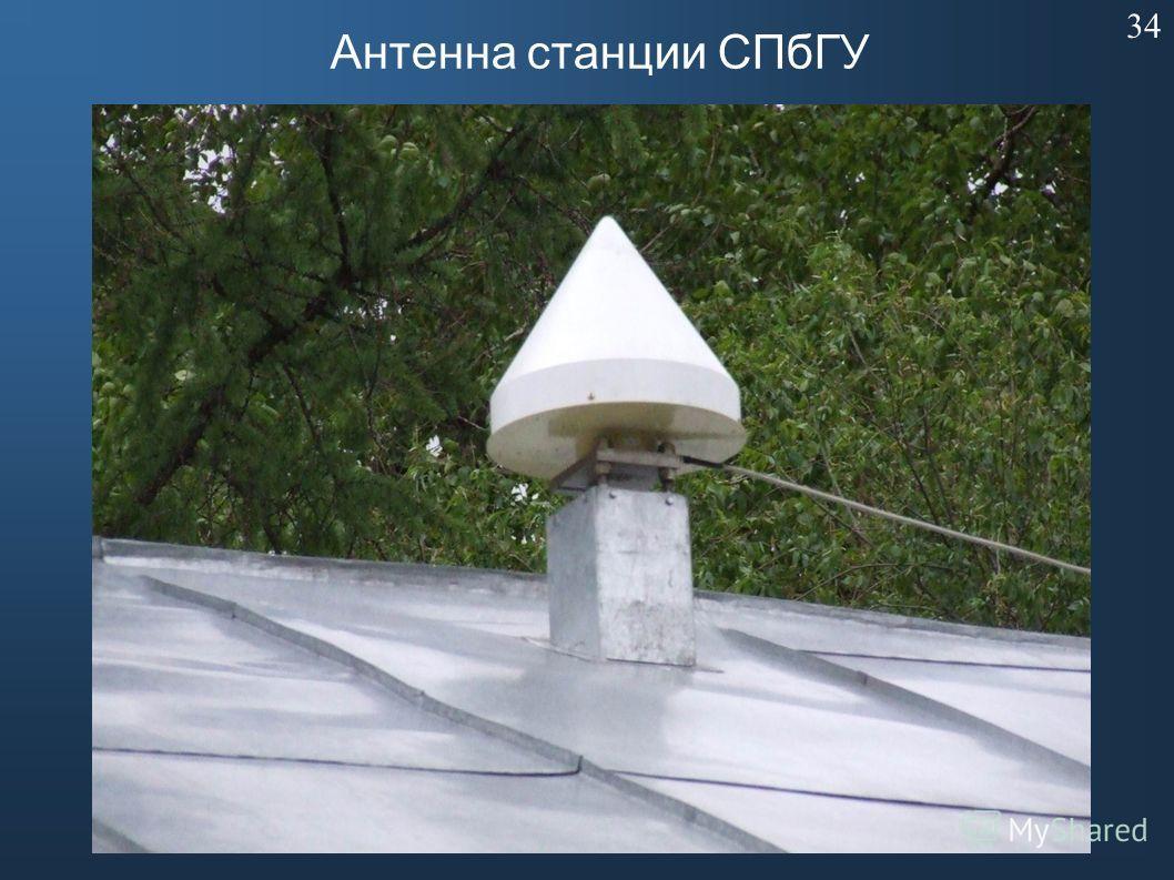 Антенна станции СПбГУ 34