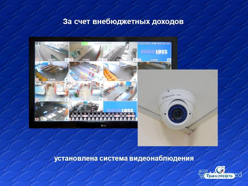 За счет внебюджетных доходов установлена система видеонаблюдения