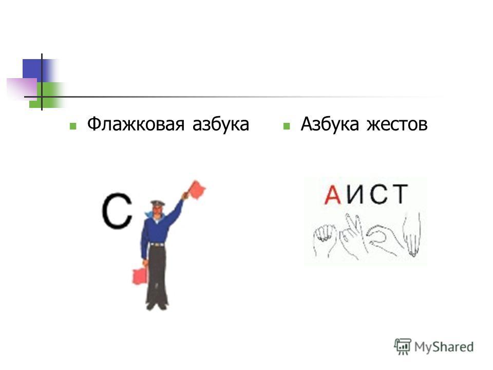 Флажковая азбука Азбука жестов