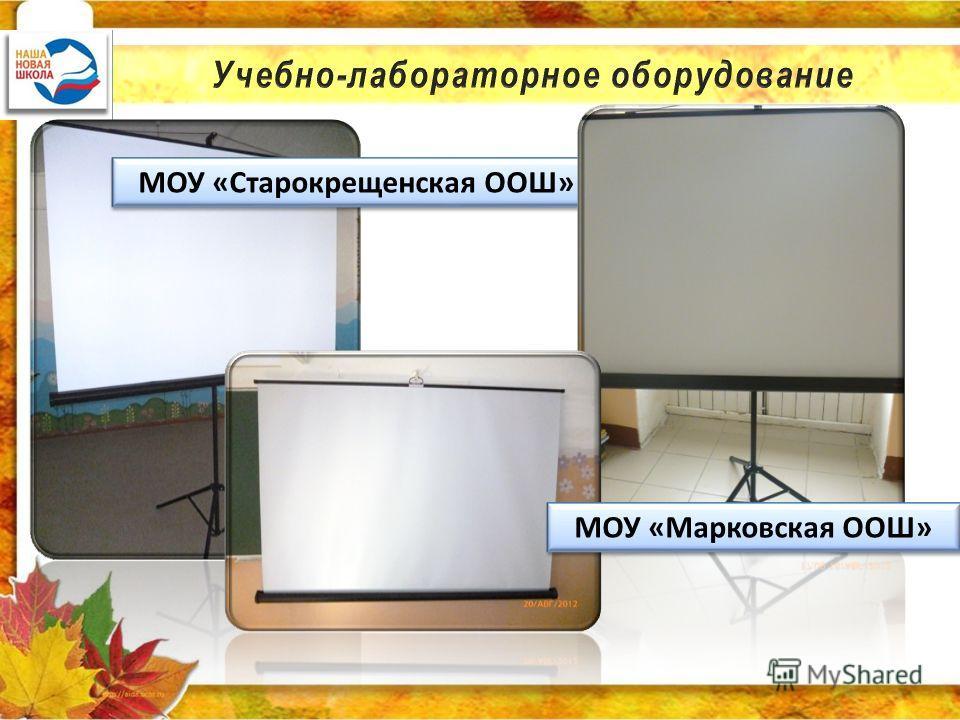 МОУ «Старокрещенская ООШ» МОУ «Марковская ООШ»