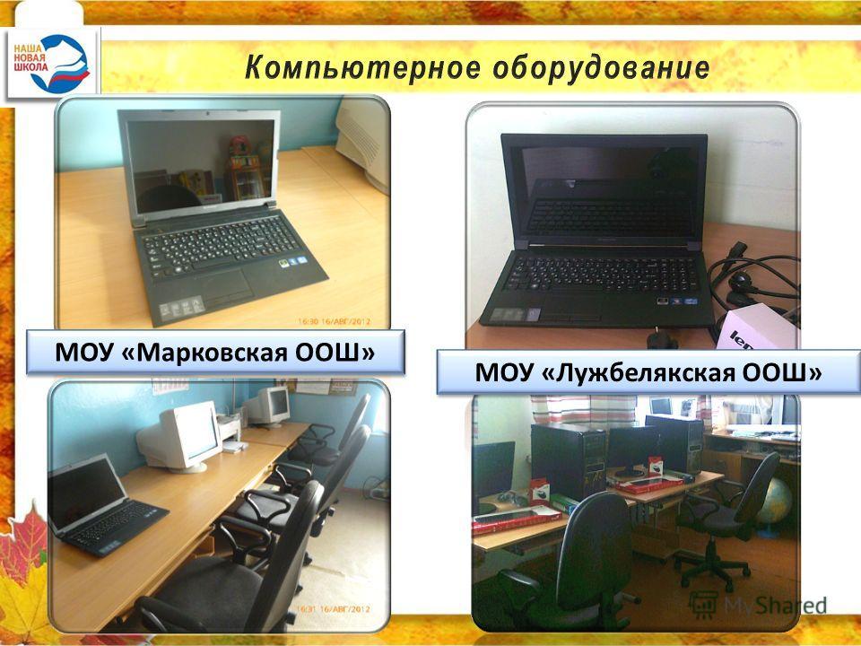 МОУ «Марковская ООШ» МОУ «Лужбелякская ООШ»