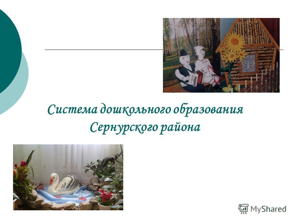 Система дошкольного образования Сернурского района
