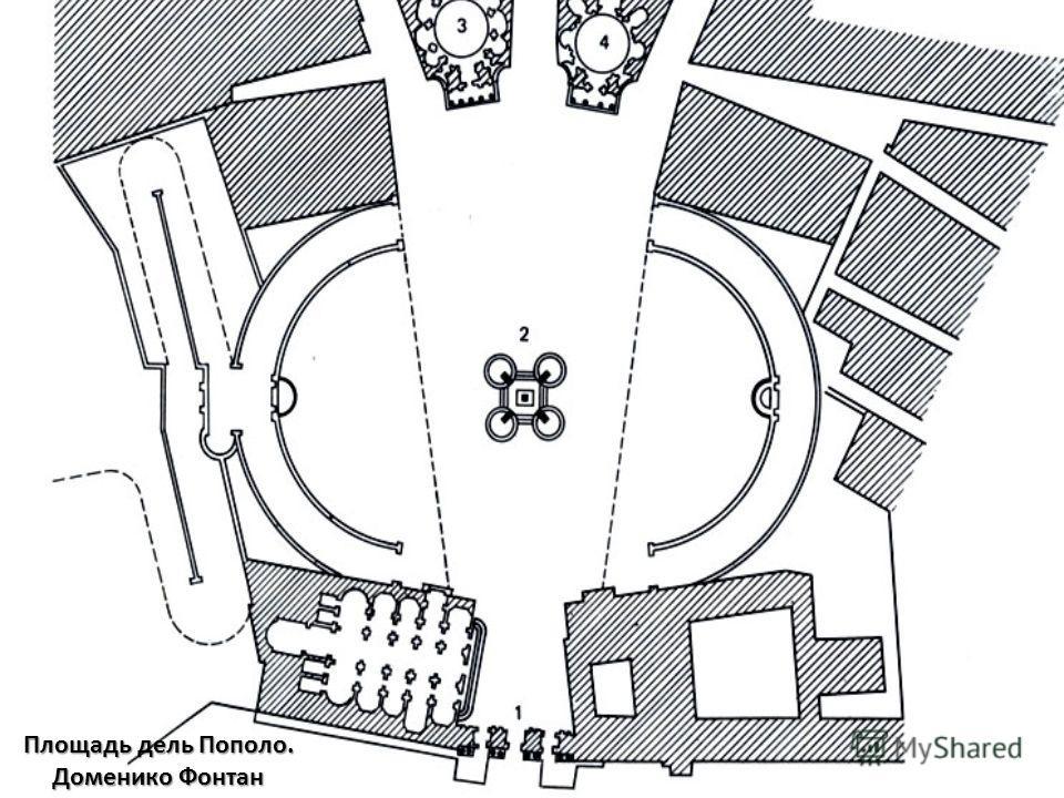 Площадь дель Пополо. Доменико Фонтан