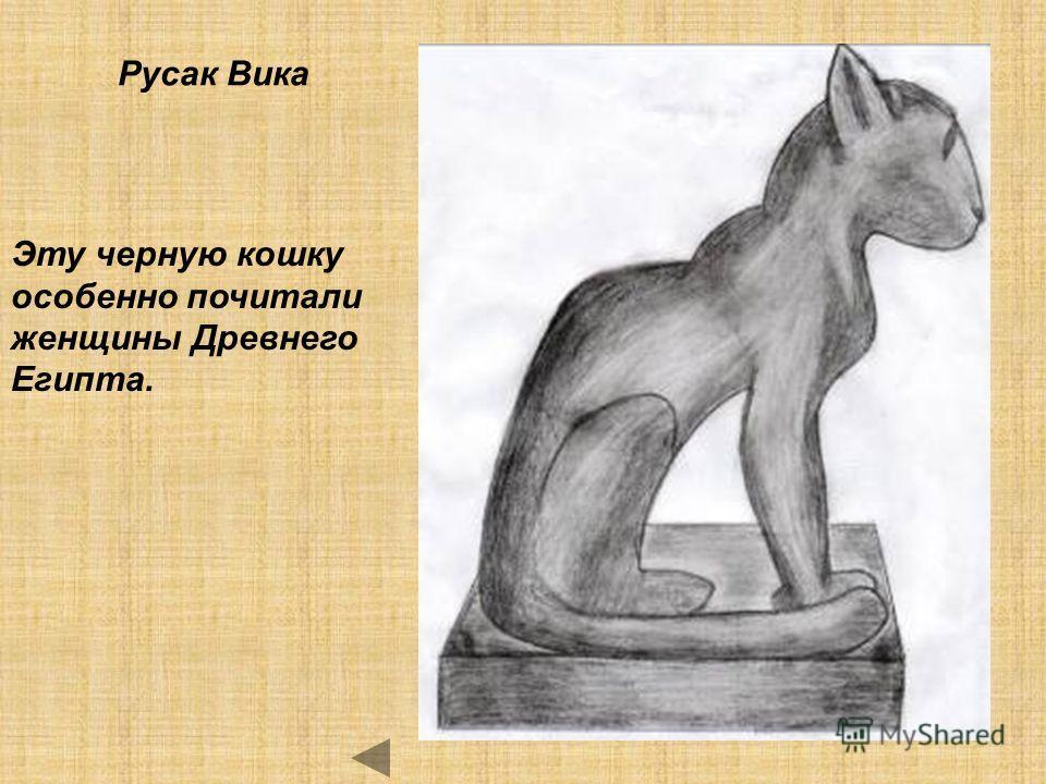 Русак Вика Эту черную кошку особенно почитали женщины Древнего Египта.