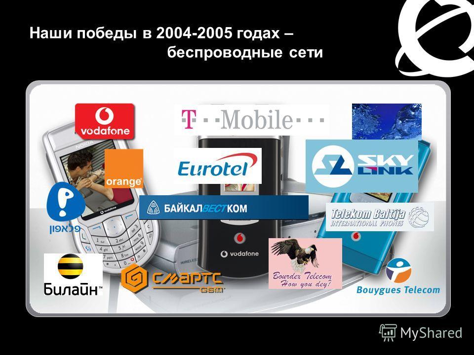 Наши победы в 2004-2005 годах – беспроводные сети