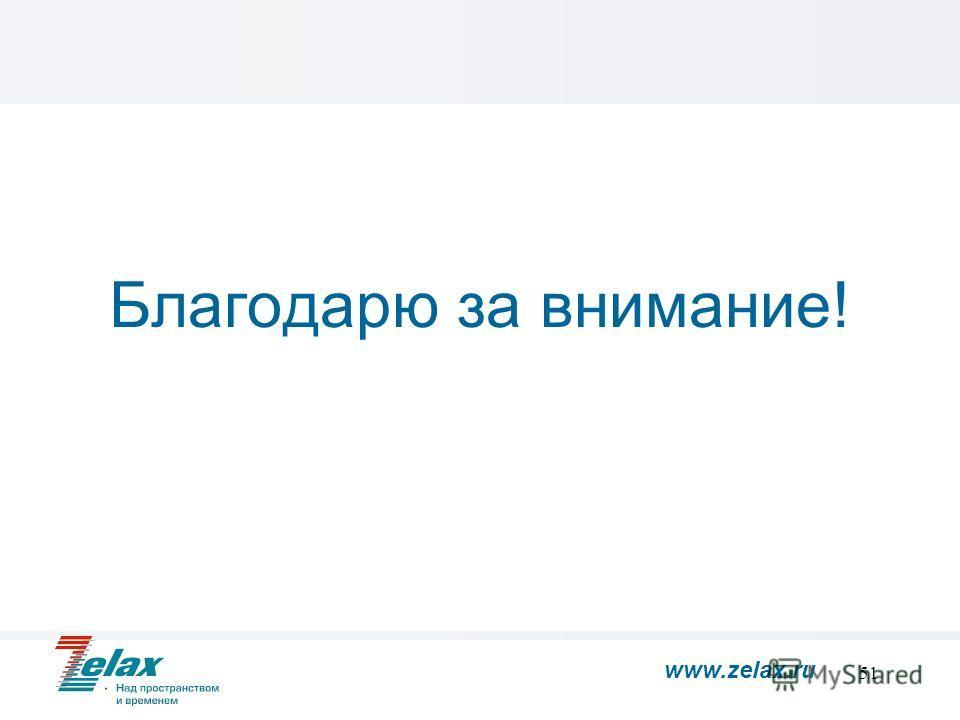51 Благодарю за внимание! www.zelax.ru