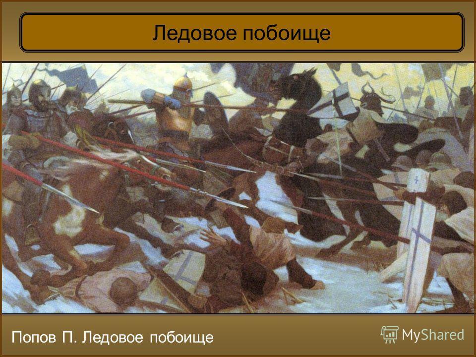 Попов П. Ледовое побоище Ледовое побоище