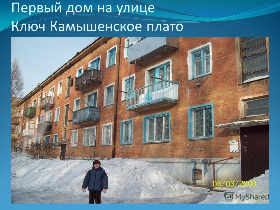 Первый дом на улице Ключ Камышенское плато