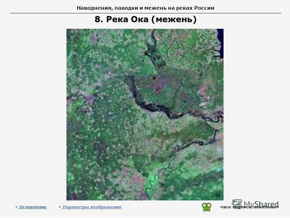 Наводнения, паводки и межень на реках России 8. Река Ока (межень) Оглавление Оглавление Параметры изображения