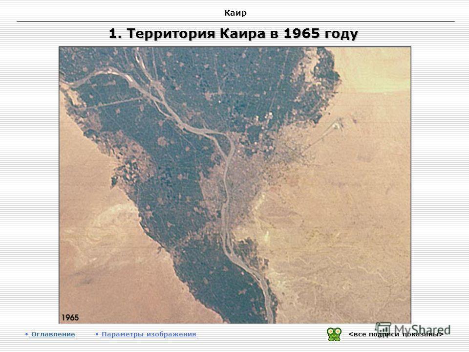 Каир 1. Территория Каира в 1965 году Оглавление Оглавление Параметры изображения