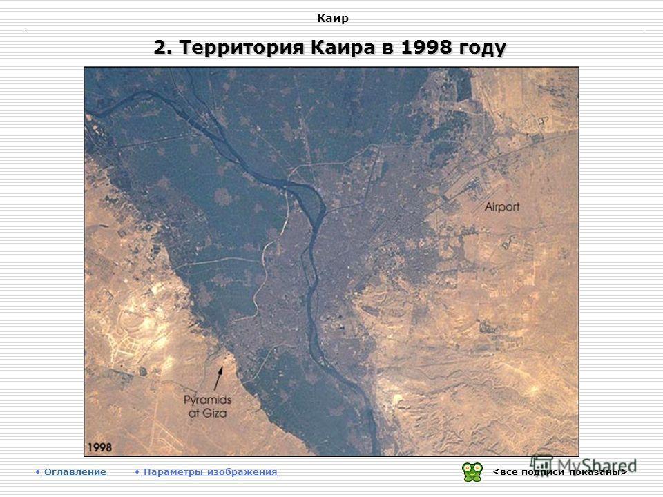 Каир 2. Территория Каира в 1998 году Оглавление Оглавление Параметры изображения
