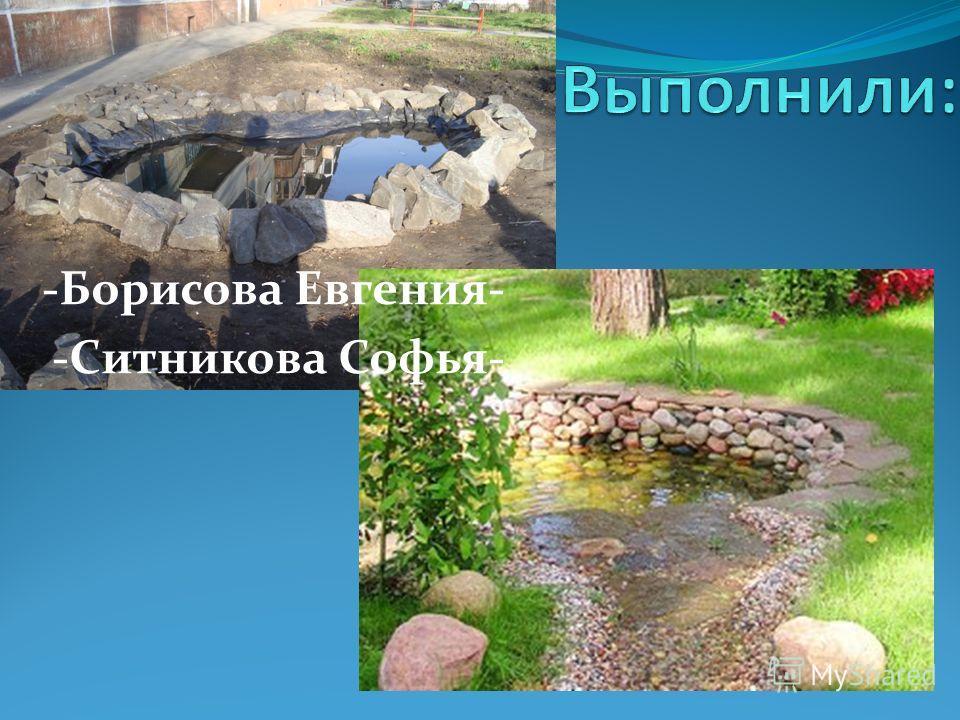 -Борисова Евгения- -Ситникова Софья-