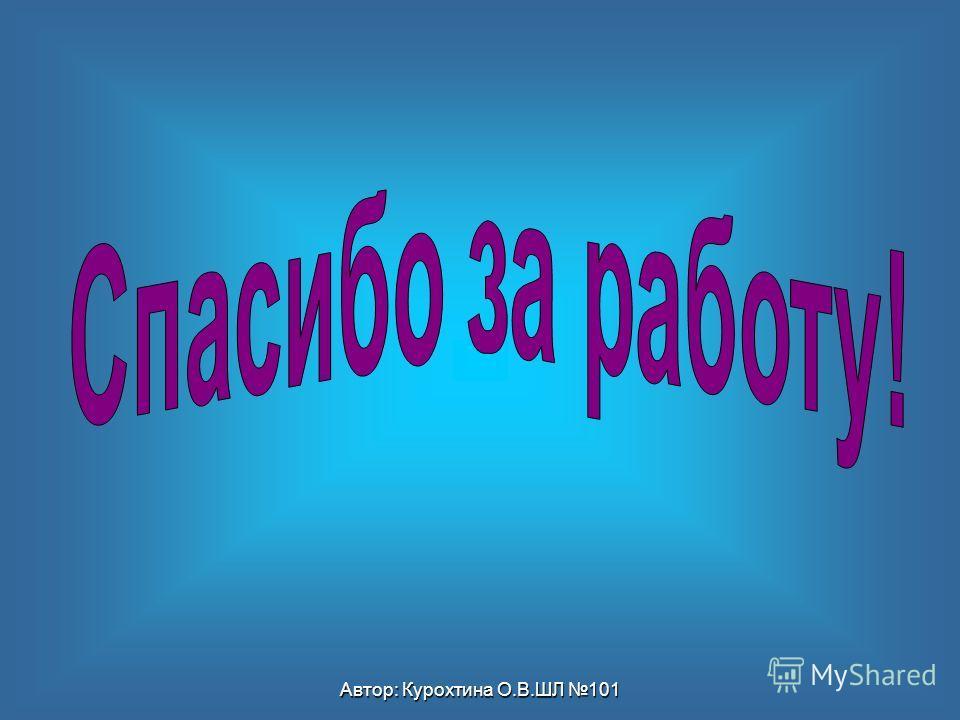 Автор: Курохтина О.В.ШЛ 101