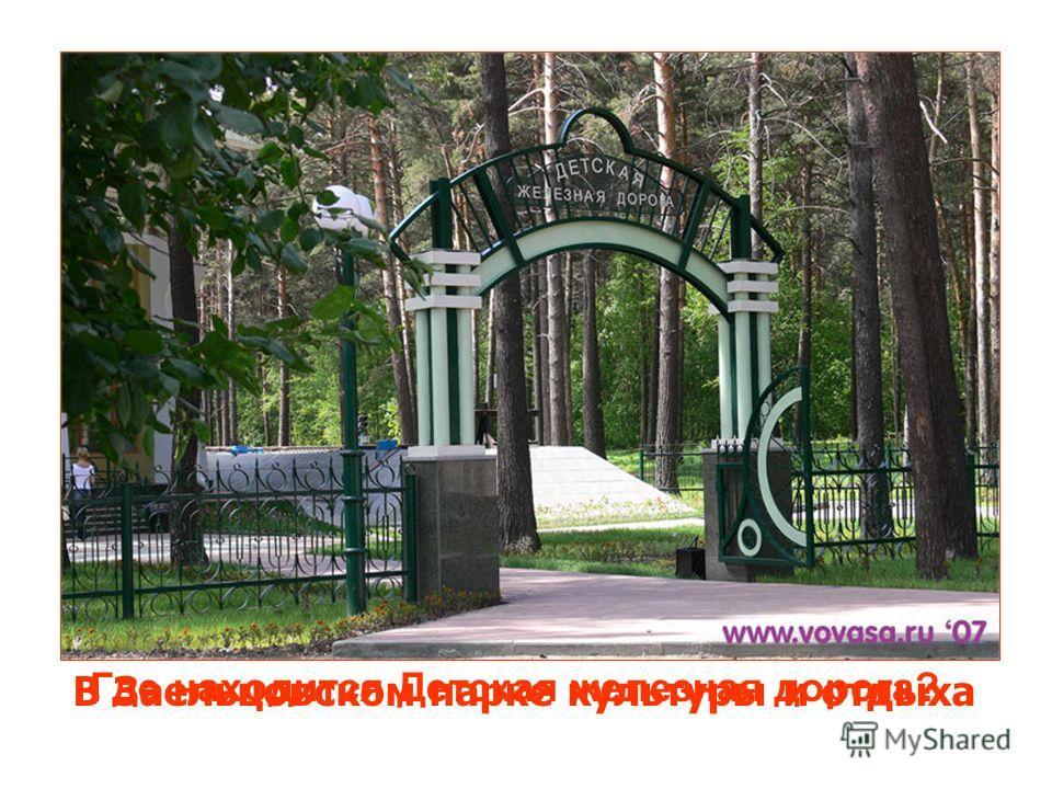 Где находится Детская железная дорога? В Заельцовском парке культуры и отдыха