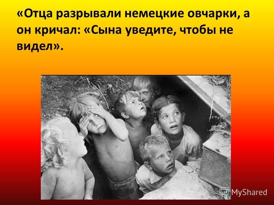 «Отца разрывали немецкие овчарки, а он кричал: «Сына уведите, чтобы не видел».