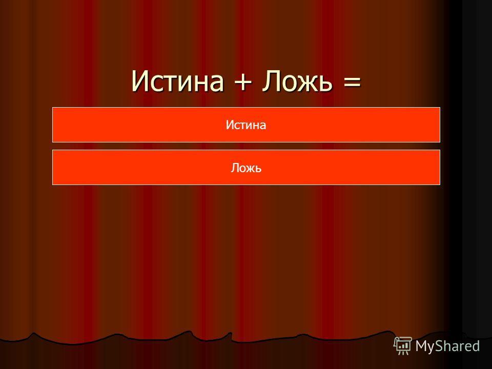 Истина + Ложь = Истина Ложь