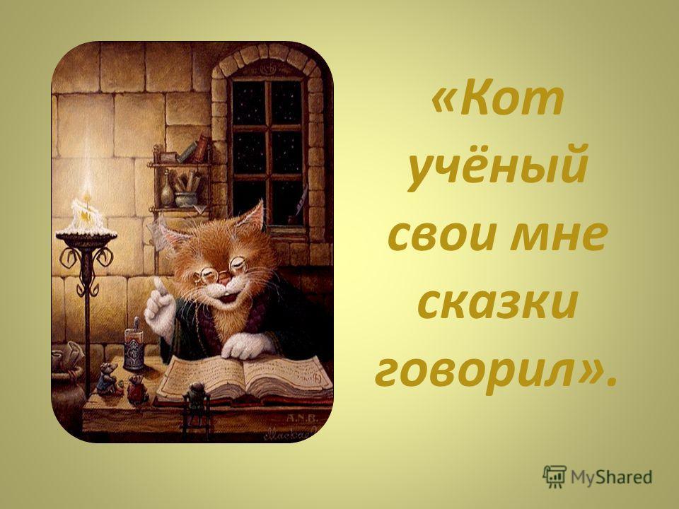 «Кот учёный свои мне сказки говорил».