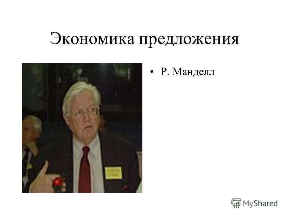 Экономика предложения Р. Манделл