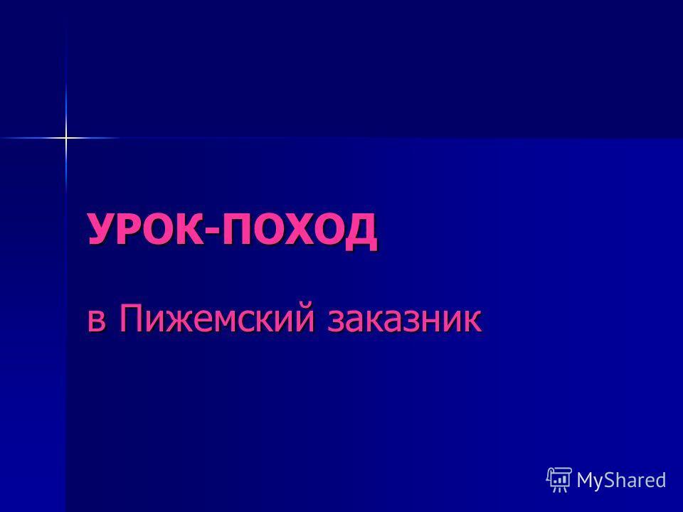 УРОК-ПОХОД в Пижемский заказник